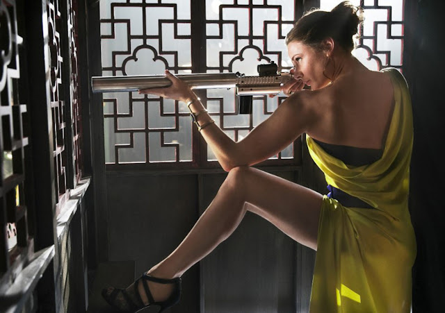 The dress is nice, but Rebecca Ferguson is more than just a looker. She's here to stay.