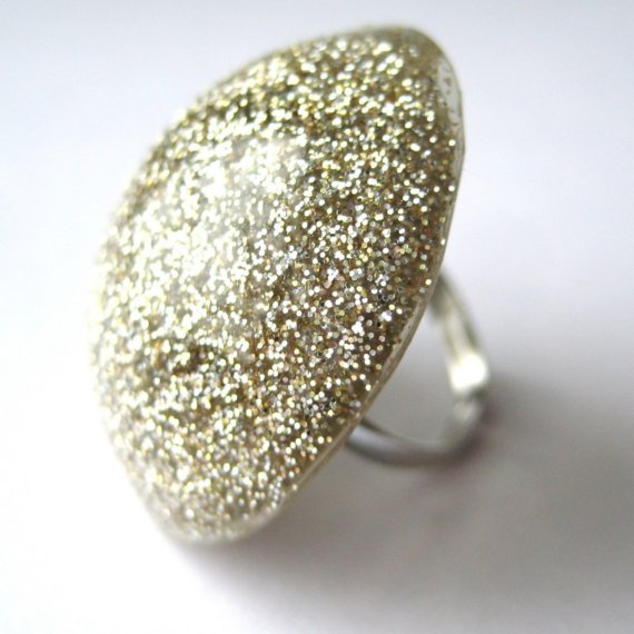 popko shop- glitter ring
