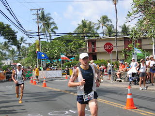 Marathon run at end of Hawaii Ironman