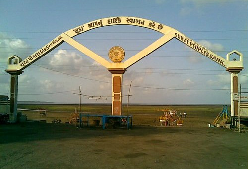 Entrance Gate of Dumas Beach