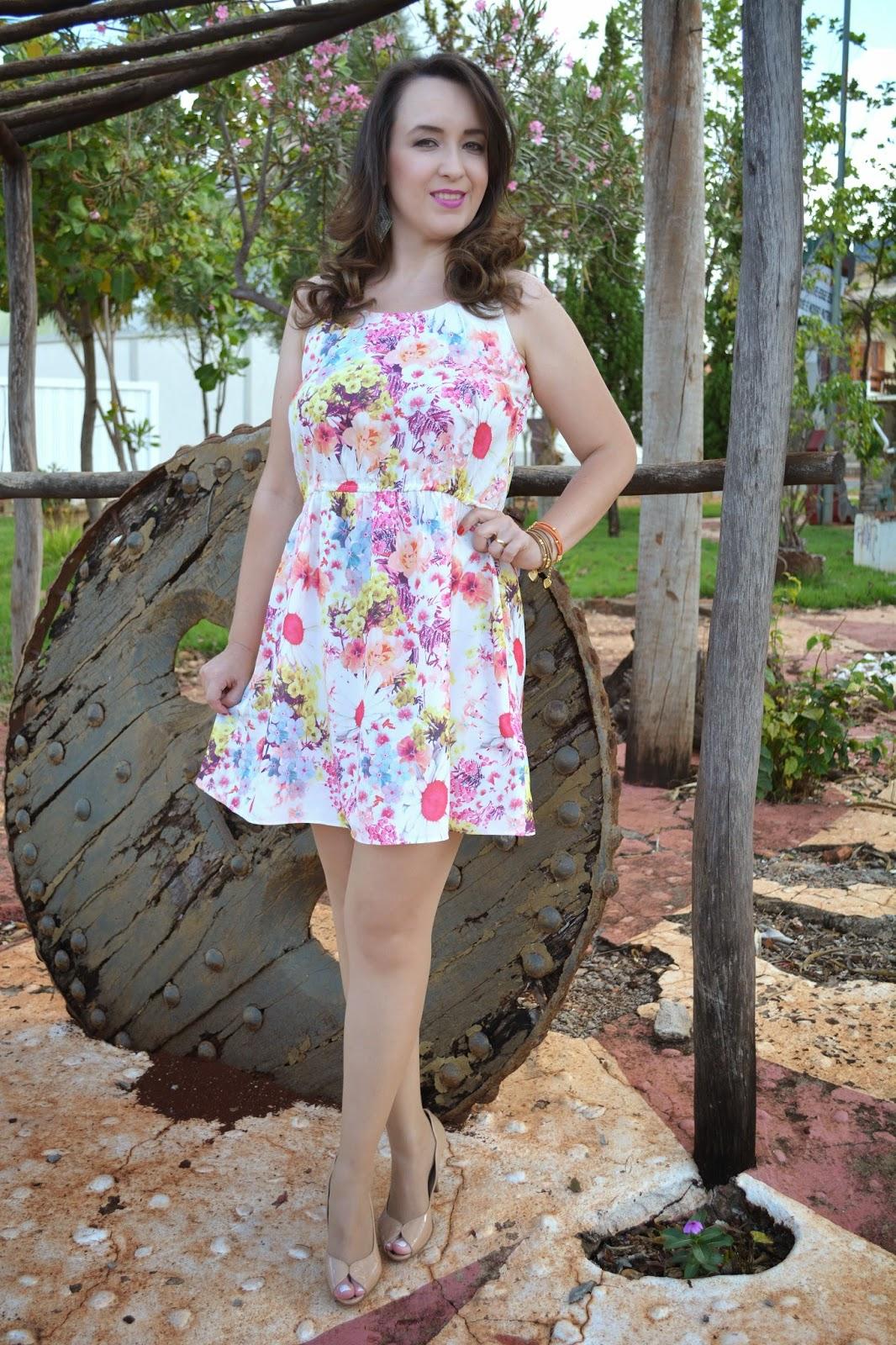 look do dia, vestido estampa floral, dica de look, estampa floral, blog camila andrade, blog de moda de ribeirão preto, fashion blogger, lalillu modas