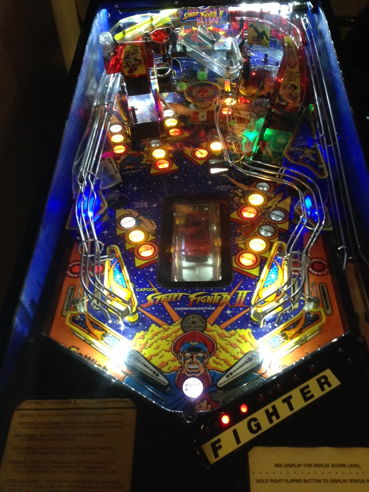 Capcom Addict Street Fighter 2 Pinball Gottlieb Led Modified