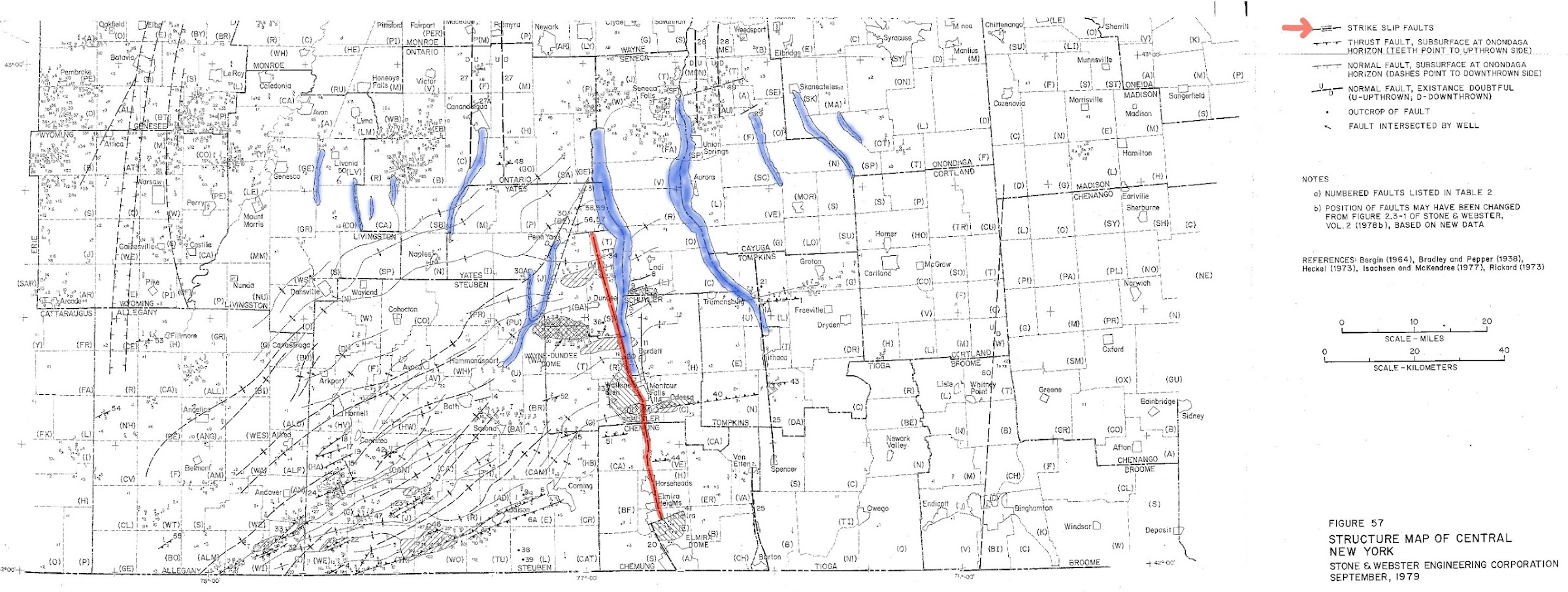 BillHustonBlog: Stone and Webster Fault Map of Finger Lakes Region