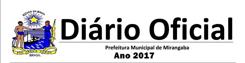 Diário Oficial  Eletrônico Mirangaba.