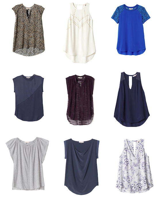 Rebecca Taylor clothing, tops, leopard, leo, floral, nailhead, aztec, shortsleeve, tank