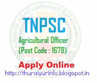 TNPSC Agricultural Officer Recruitment 2012 Notification