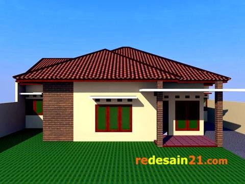 desain rumah besar bangunan 150 m2 - depan rd2