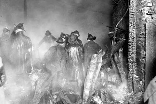 Hiện trường vụ cháy khiến Francis Leavy thiệt mạng