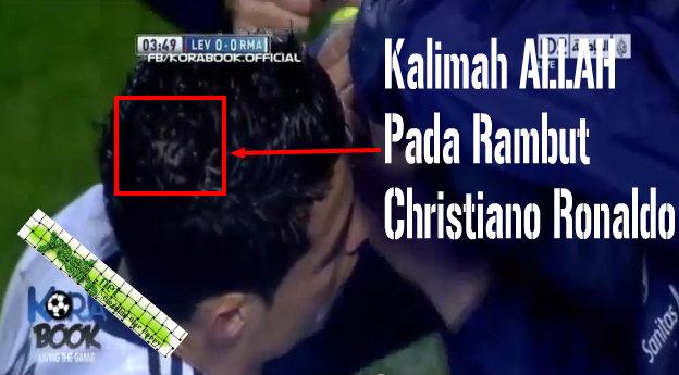 Kalimah ALLAH Pada Rambut Christiano Ronaldo