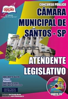 Apostila ATENDENTE LEGISLATIVO da Câmara Municipal de Santos / SPDownload