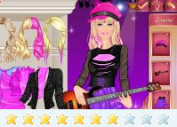 Game Berpakaian Barbie Dandan Rocker