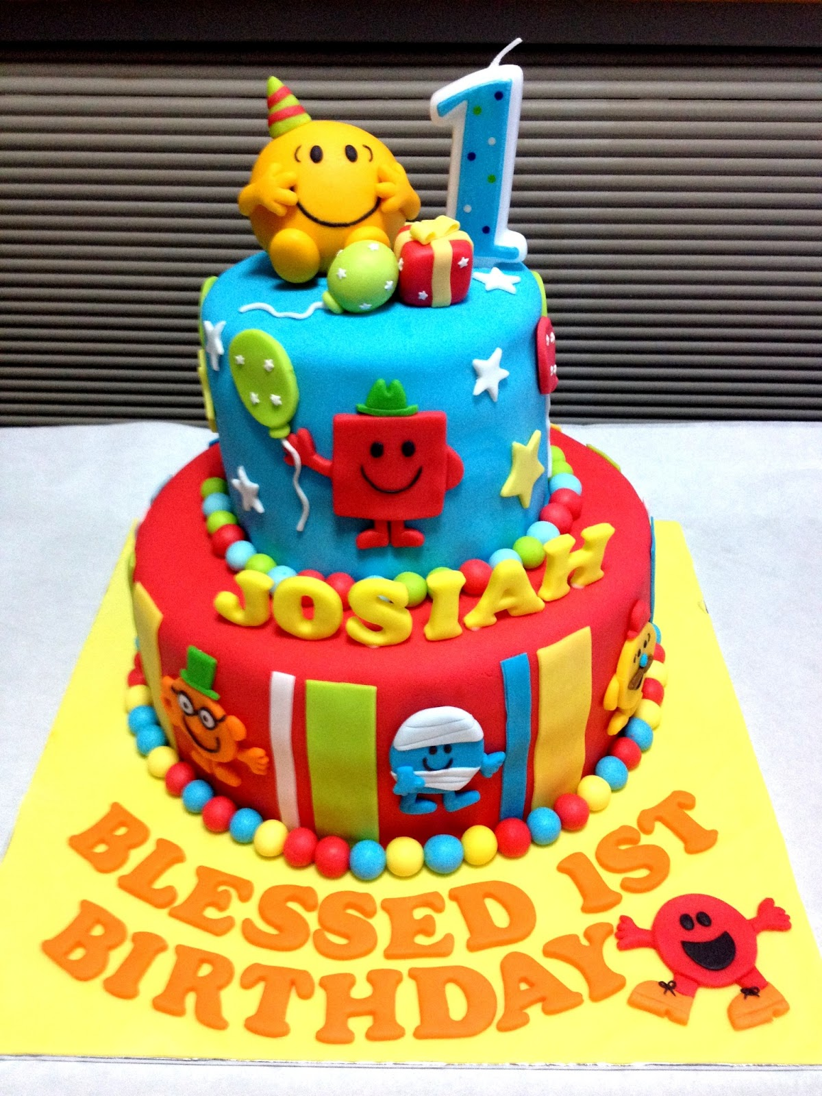 Mr Men Happy Birthday Cake