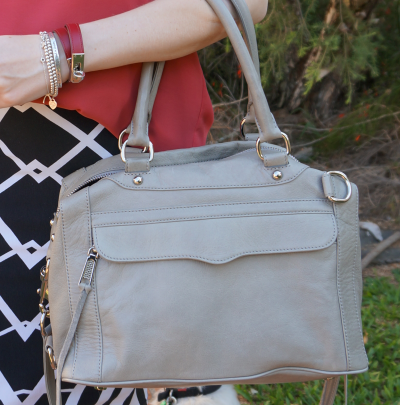 Rebecca Minkoff soft grey MAM bag