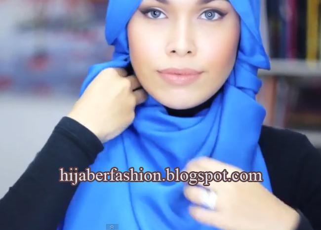 Hijab Cantik: Tutorial Hijab Modern Warna Biru yang Cerah