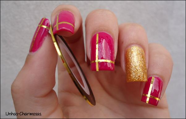 Unhas charmosas nail art natal chic - Nail art chic ...