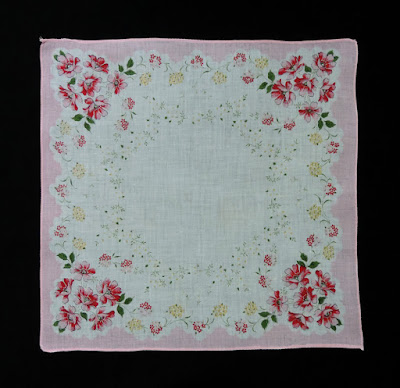 vintage pink handkerchief