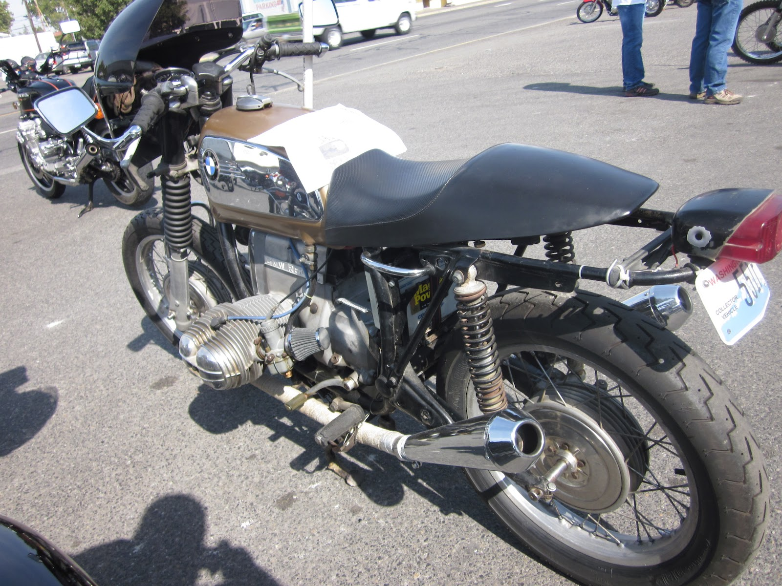 oldmotodude bmw r60 5 rat cafe at the 2012 retro riders. Black Bedroom Furniture Sets. Home Design Ideas