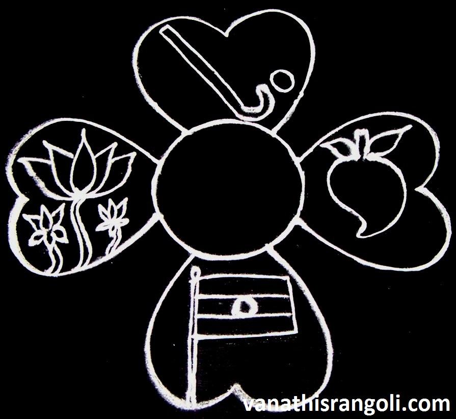 Vanathis Rangoliartcrafts Indian Republic Day Rangoli National
