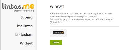 Cara memasang Widget Lintaskan/Lintas Me di Blog