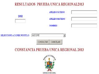 LA LIBERTAD Resultados Examen Contrato Docente 2014 [19 de Enero] La ...