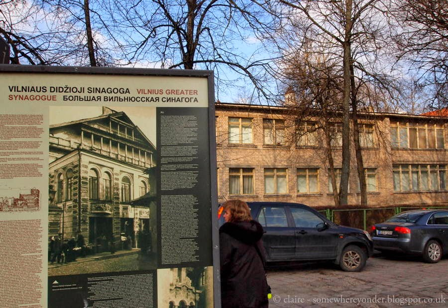 The site of the Jewish Synagogue, Vilnius Lithuania
