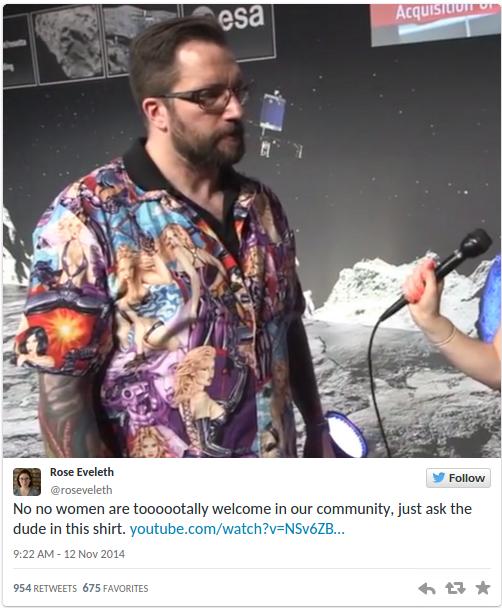 Scienziato di Rosetta umiliato per camicia 'sessista'