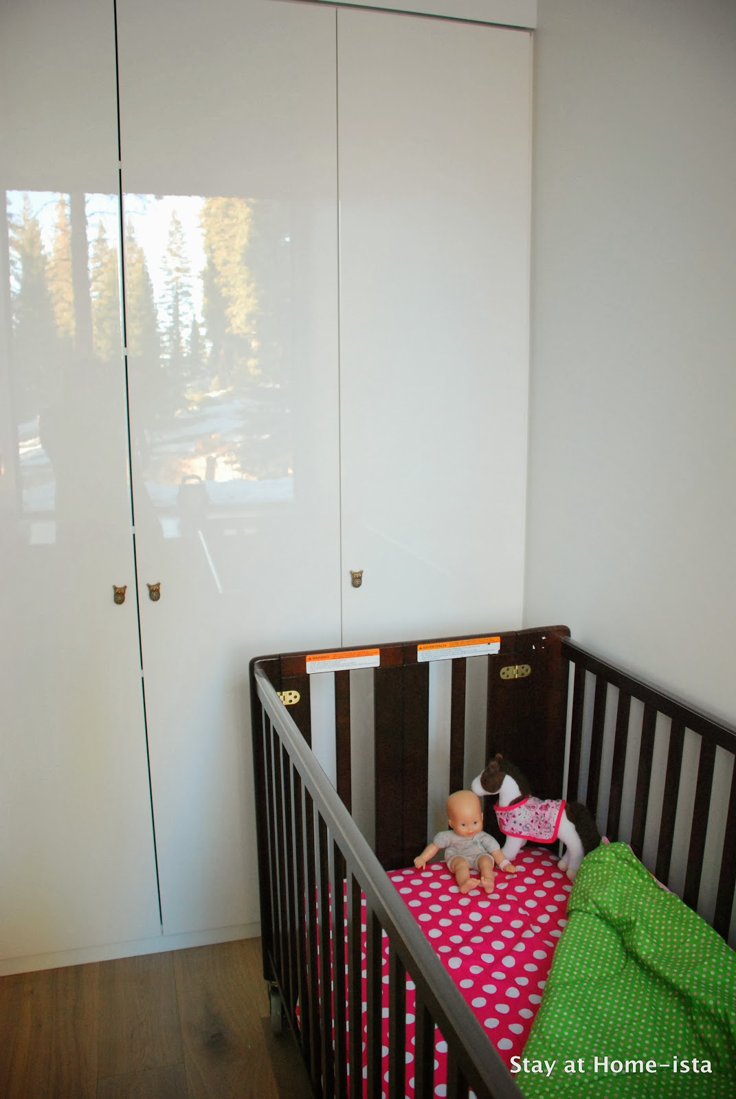 Making a nursery out of a closet