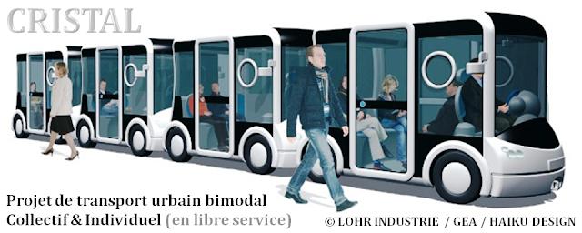 """Plateau du Heysel - Mobilité - Projet de transport urbain à double usage """"CRISTAL"""" (LOHR Industrie) - Une alternative séduisante au téléphérique  sur le plateau du Heysel ? - Bruxelles-Bruxellons"""