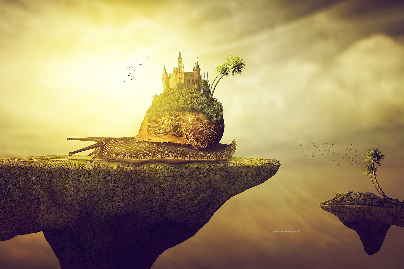 Castle of snail photoshop photo manipulation tutorial rafy a this video will show you how to make fantasy manipulation scene effect in photoshop adding highlights and shadows by using dodge and burn tool baditri Choice Image