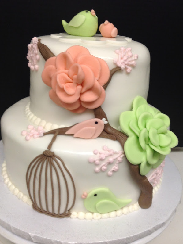 Mama Bird Baby Shower Cake