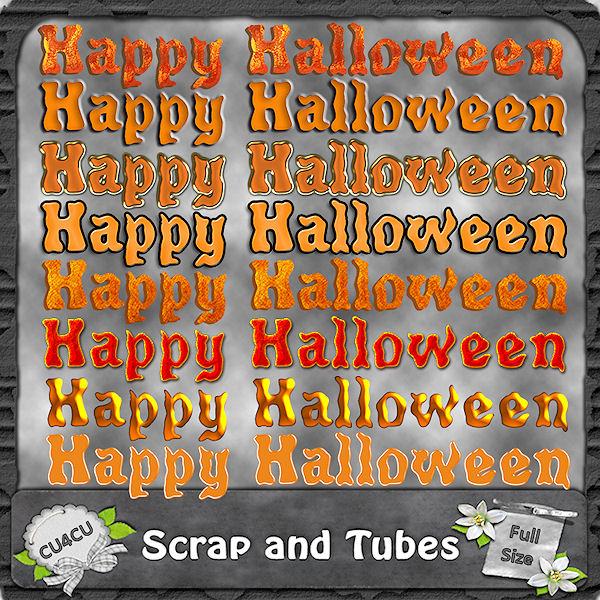 Happy Halloween Wordarts (CU4CU) .Happy+Hallowen+Wordarts_Preview_Scrap+and+Tubes