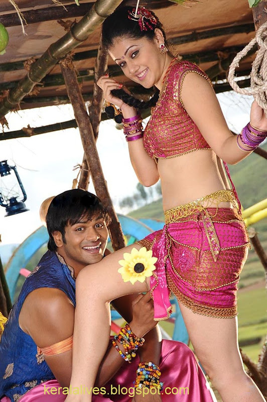 South Tabasee Showing Her Sexy White Thighs Spicy Navel and Deep Cleavage With Manju Manoj in Jhummandinadham telugu movieAmazing Photographs cleavage