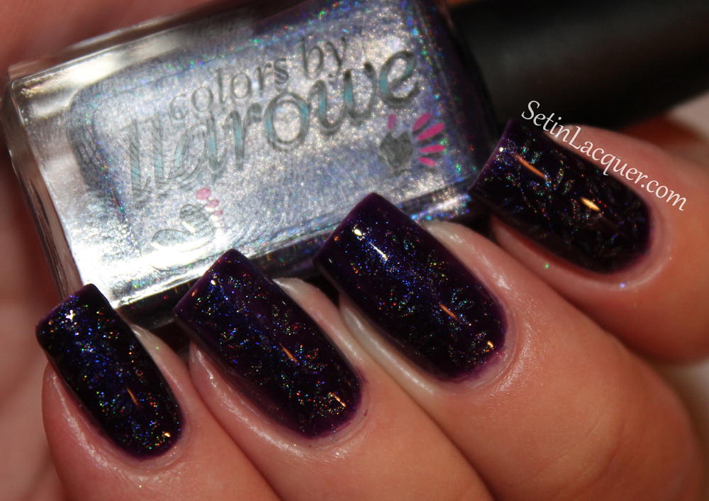 Stamped nail art with Colors by llarowe Purple Rain, Smooth Criminal and the FabUrNails Fun 5 stamp