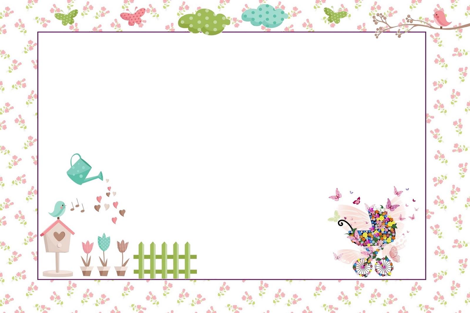 Convites para imprimir  Tema Jardim Encantado  Dicas pra Mamãe