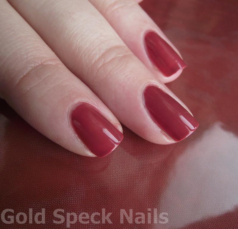Gold Speck Nails: Revlon Teak Rose Swatches