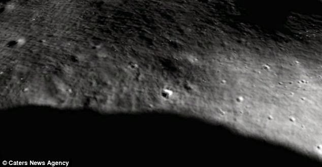 Avistan sospechosa estructura a través de Google Moon Base+luna+1