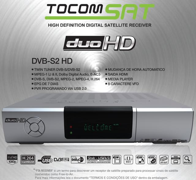Nova Atualização Tocomsat Duo antigo   HD .data 05/07/2014. Tocomsathd