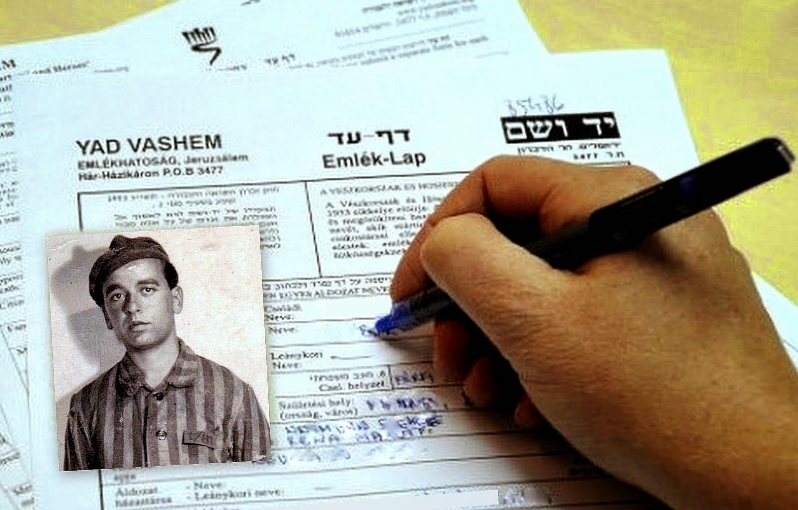 """""""דף עד"""" להנצחת שמותיהם וזיכרם של הניספים בשואה"""