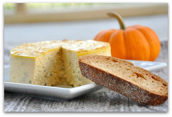 Savory Pumpkin Basil Cheesecake