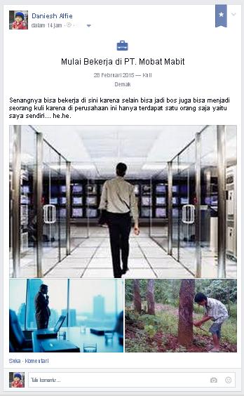 cara membuat status fb peristiwa penting