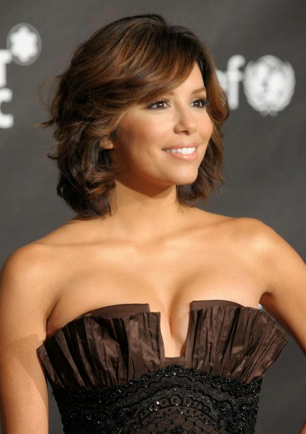 A bob cut with a side fringe and slight waves.