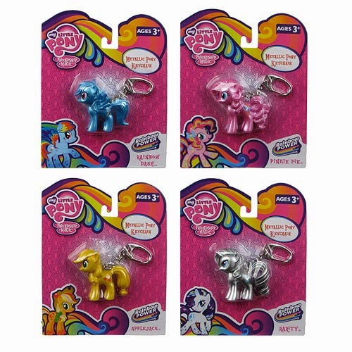 Basic Fun Metallic Pony Keychains