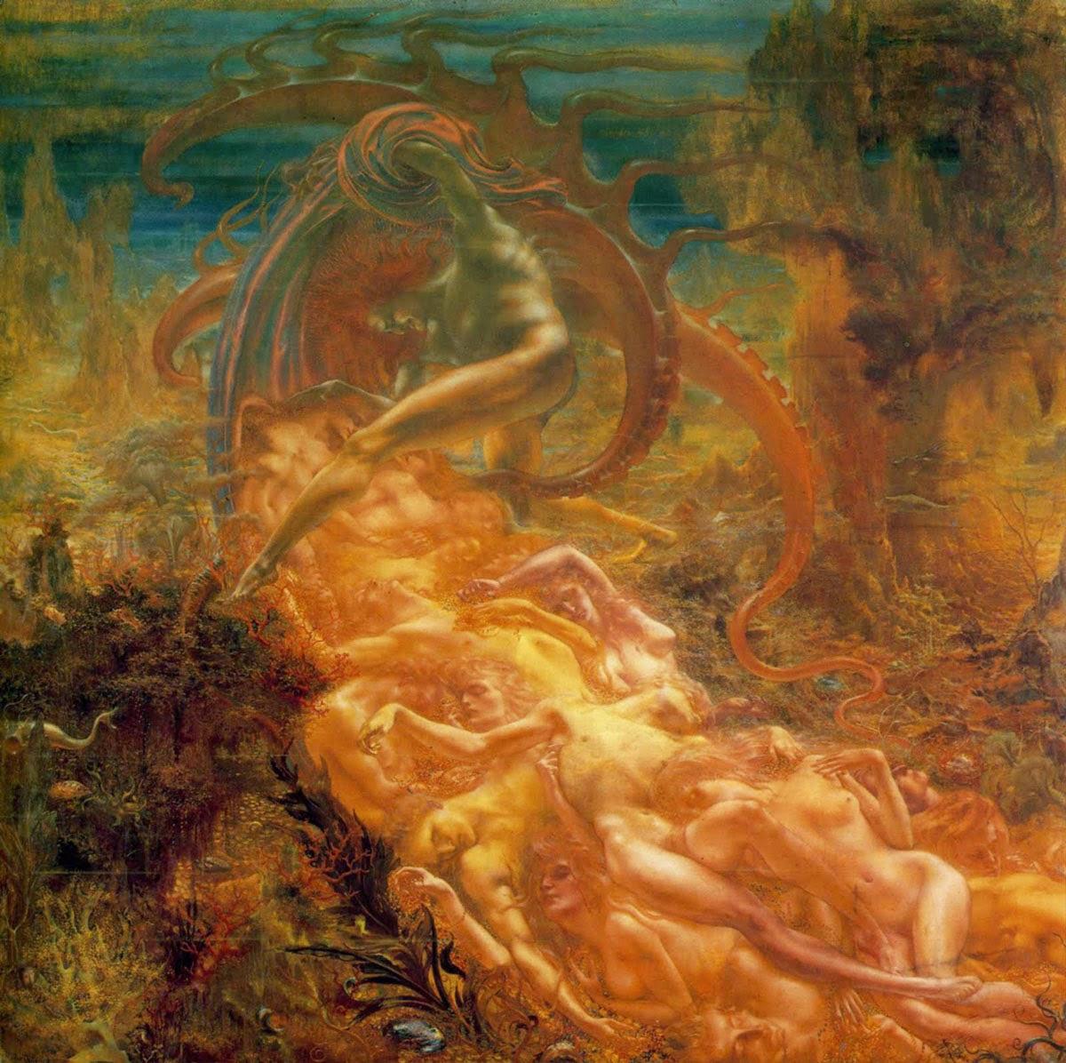 Huile sur toile de Jean Delville