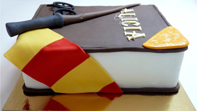 Tarta Harry Potter con fondant - 5