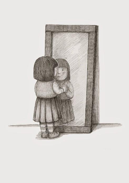 Mirror Reflection Drawings Reflection Yara Dutra