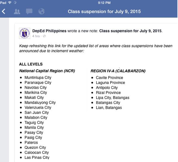 Then Downpour By Night Until Yesterday Whole Day And Classes Were Suspended Metro Manila Wide By The Department Of Education Deped