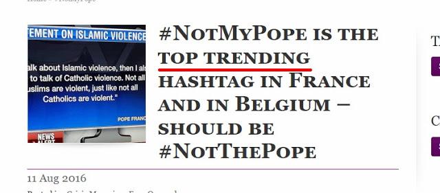Hermanos católicos rechazan en la Red a Bergoglio primero en Francia y ahora en Bélgica