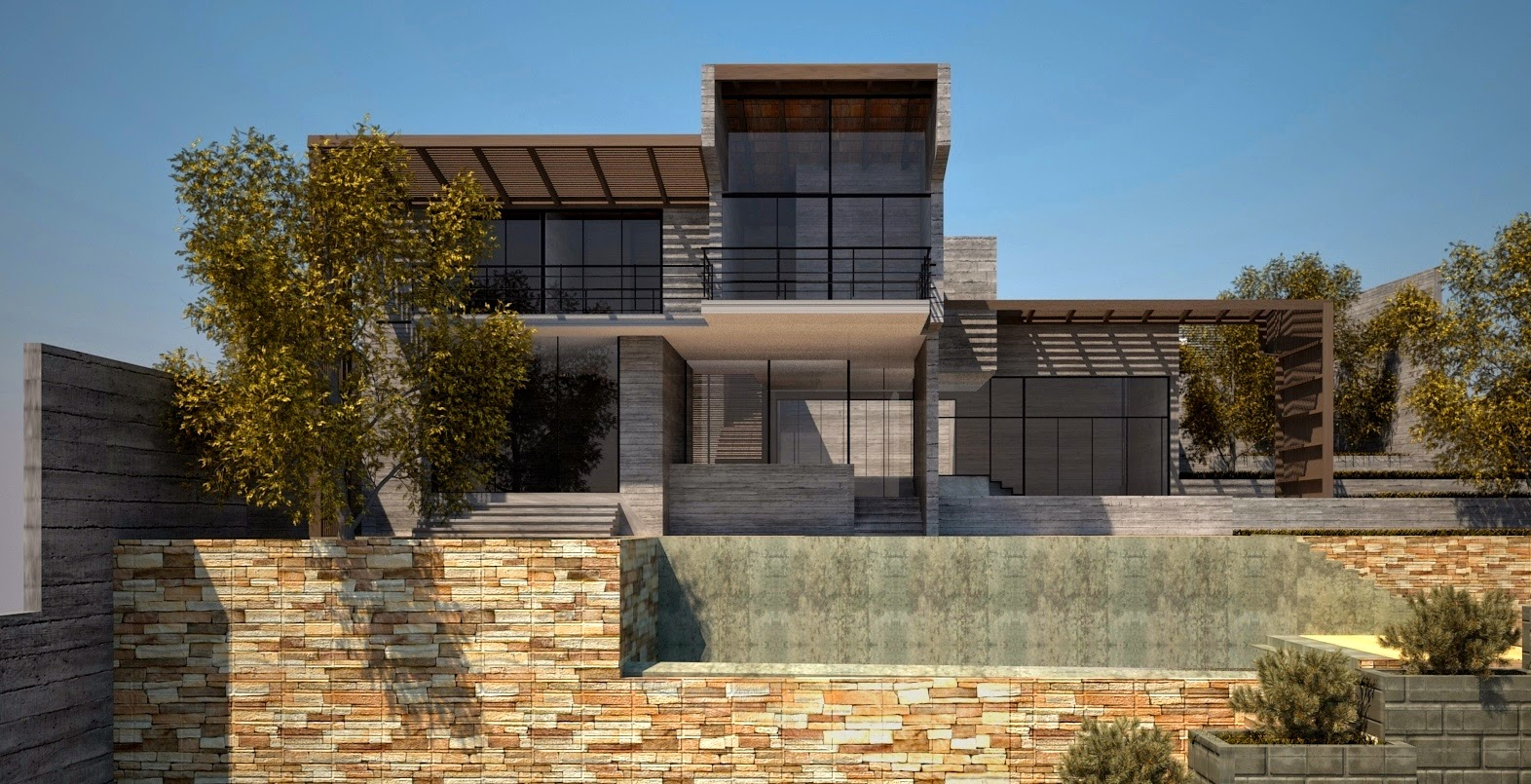 La forma moderna en latinoam rica casa de campo en for Viviendas de campo modernas