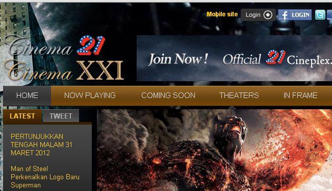 21Cineplex, Jadwal Bioskop Terbaru Terlengkap 2012