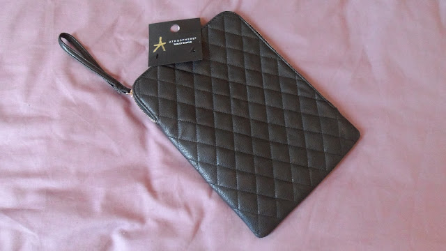 Primark black quilted tablet cover